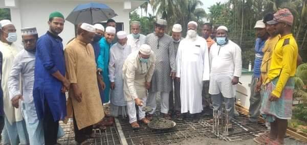 বিশ্বনাথে বায়তুল মা'মুর জামে মসজিদের ছাদ ঢালাই উদ্ভোধন করেন এমপি মোকাব্বির