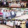 শিবগঞ্জে সাংবাদিক রোজিনা ইসলামকে হেনস্তা প্রতিবাদ ও মুক্তির দাবিতে মানববন্ধন অনুষ্ঠিত