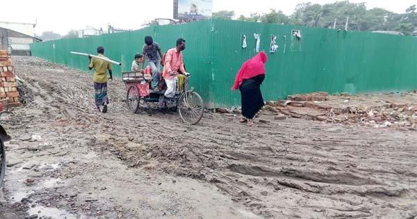 মহাস্থান গ্রামের রাস্তার বেহালদশা।।