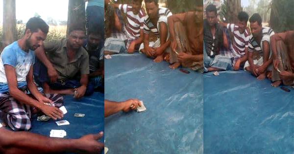 শিবগঞ্জ মাঝিহট্ট ভাড়াইল গ্রামে পদ্মপুকুরে নজমলের নেতৃত্বে চলছে জুয়া খেলা